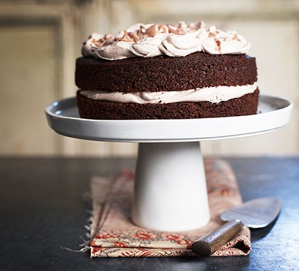 Squidgy chocolate sandwich cake