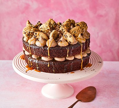 Chocolate salted caramel cookie cake