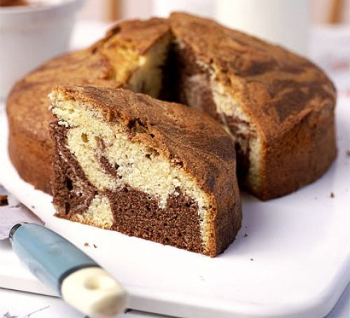 Chocolate Marble Cake Recipe Bbc Good Food