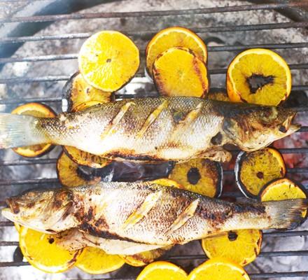 Citrus-spiked sea bass