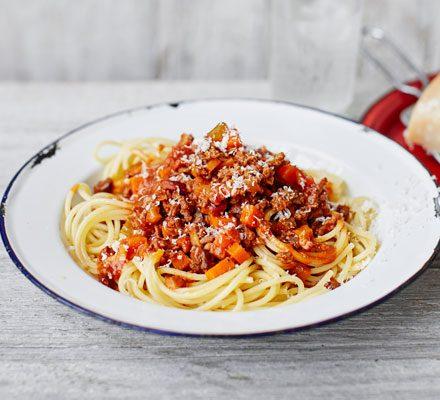 Classic Spaghetti Bolognese Recipe Bbc Good Food