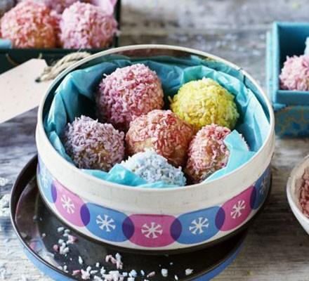 Coconut bauble truffles