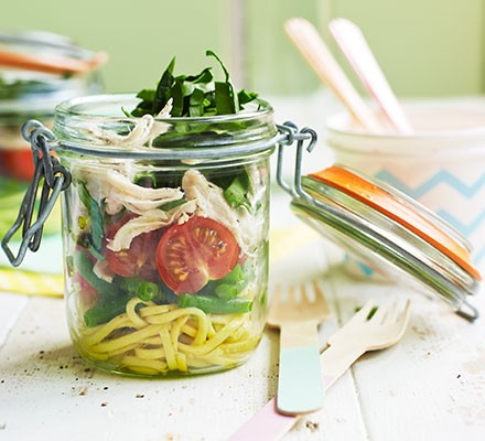 Coconut chicken noodle salads
