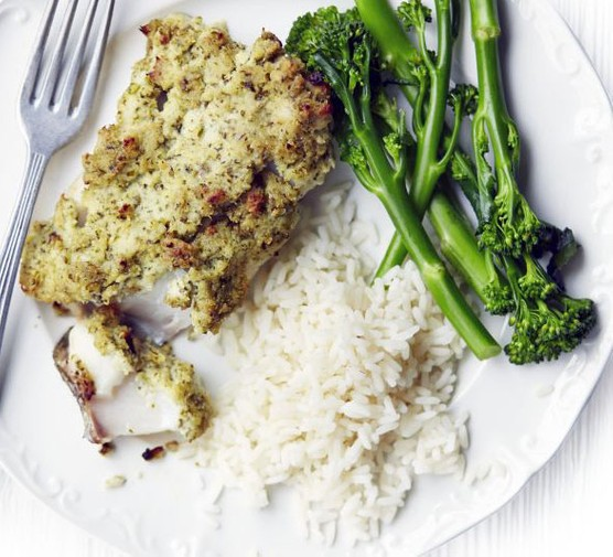Coconut & lime fish