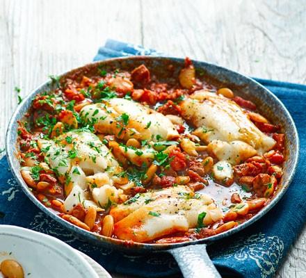 Cod & chorizo stew