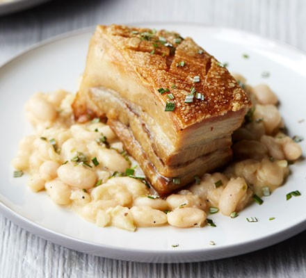 Confit pork belly with cannellini beans & rosemary 2016