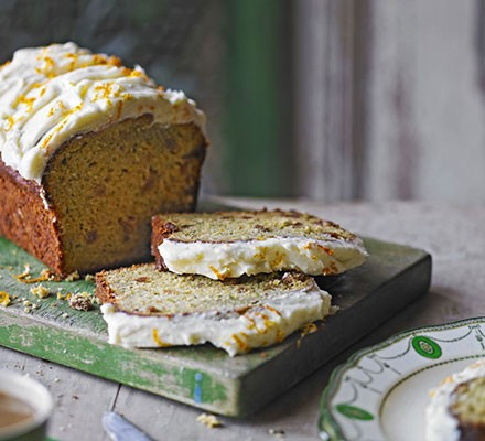 Courgette & orange cake with cream cheese frosting