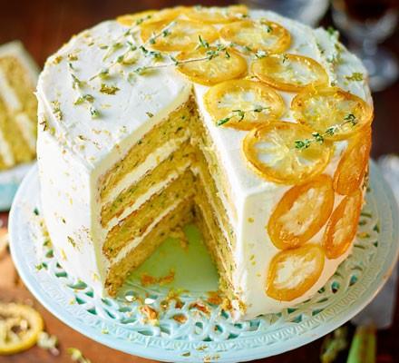 Courgette, lemon & thyme cake