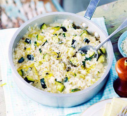Courgette & lemon risotto image