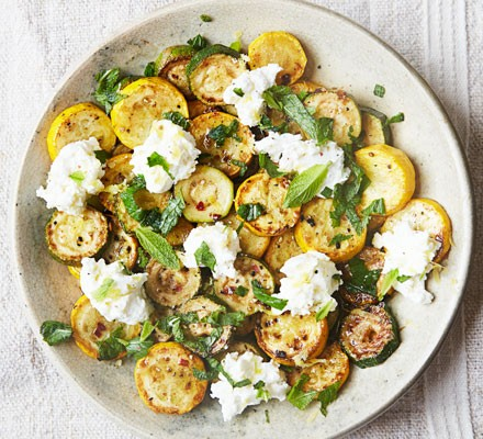 Courgettes with mint & ricotta