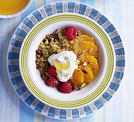 Clementine & honey couscous