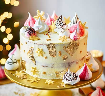 White Chocolate Orange Cranberry Christmas Cake Recipe Bbc Good Food