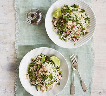 Crab noodle salad