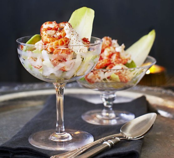 Crayfish cocktail with horseradish cream