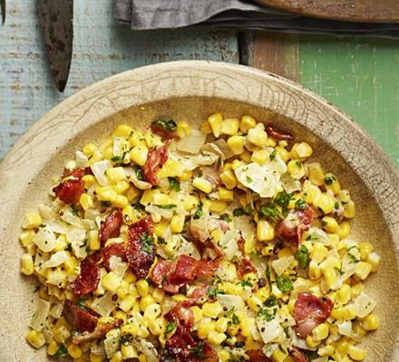 Creamed corn & bacon