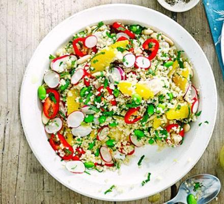 Crunchy bulghar salad