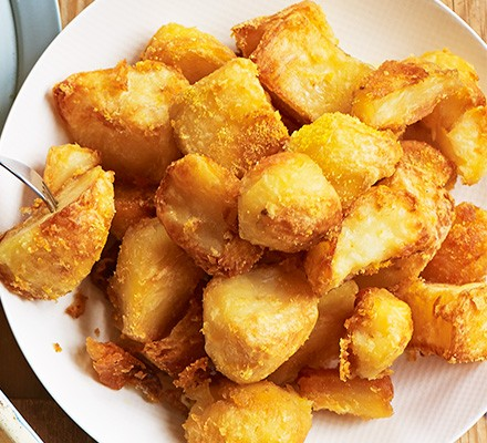 Crunchy polenta roasties served in a bowl