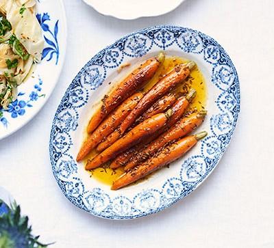 Cumin-spiced roasted carrots
