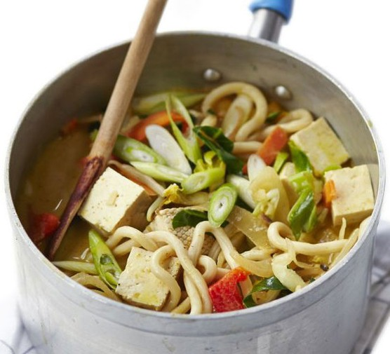 Curried udon soup
