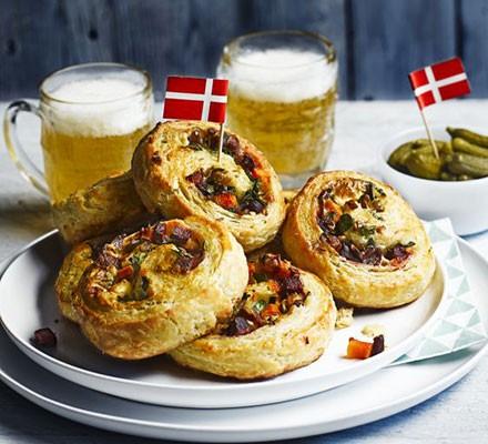 Savoury Danish pastries