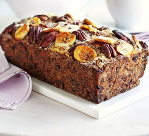 Date, banana and rum loaf cake