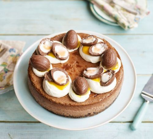 Easter cheesecake recipes: Double chocolate Easter egg cheesecake
