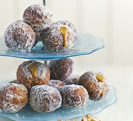 Bite-sized toffee apple doughnuts_image
