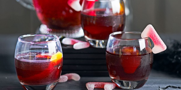 Halloween punch in glasses