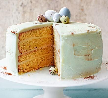 Duck egg sponge cake