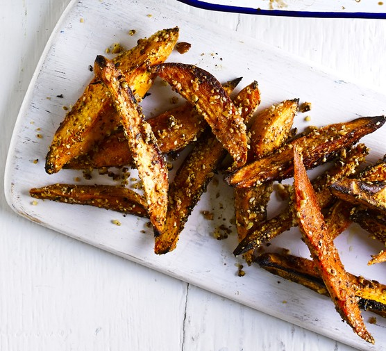 Dukkah-crusted squash wedges