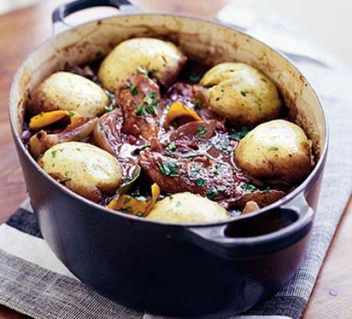 Dumplings in a casserole