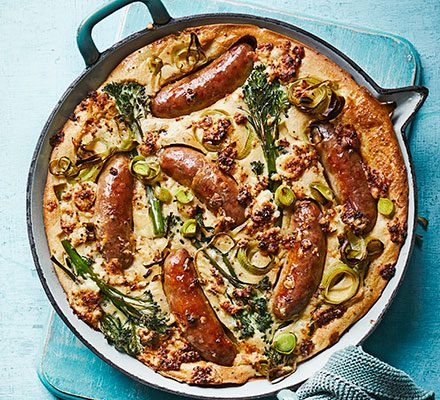 Easy cheesy mustard toad-in-the-hole with broccoli_image