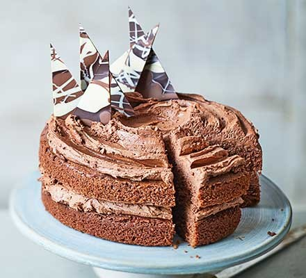 Chocolate buttercream in our easy chocolate cake