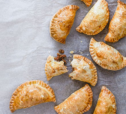 A collection of beef & chorizo empanadas