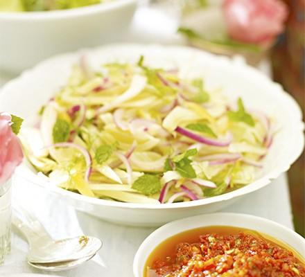 Fennel, lemon & mint salad