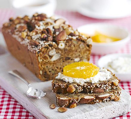 Fig, nut & seed bread with ricotta & fruit_image