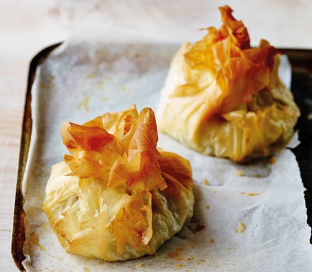 Chicken Mozzarella Pesto Filo Parcels Recipe Bbc Good Food