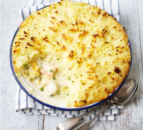 Fish pies topped with mash