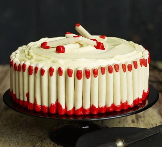 Freaky finger red velvet cake