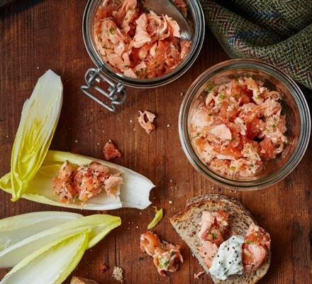 Fresh & smoked salmon rillettes
