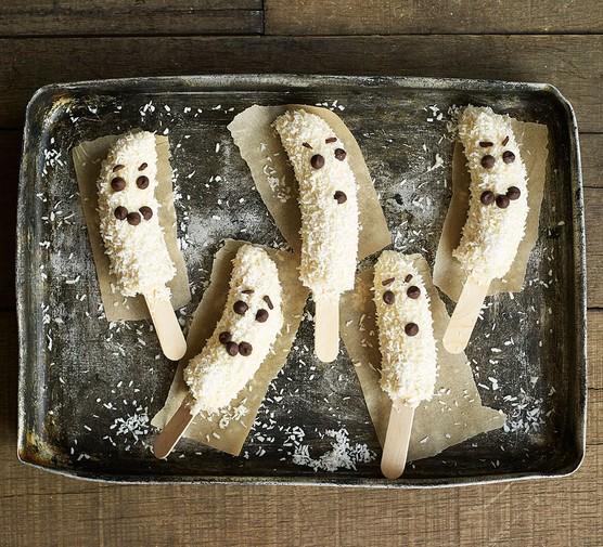 Frozen banana ghosts
