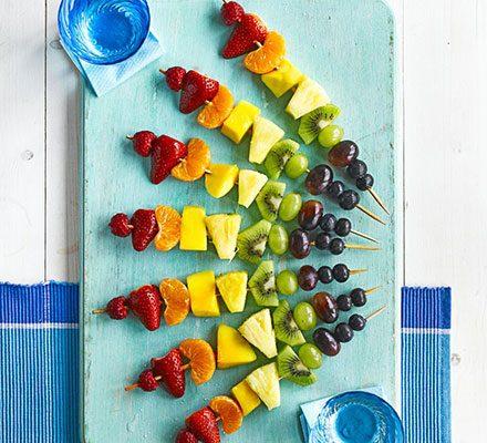 Rainbow Fruit Skewers | Beanstalk Mums