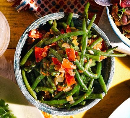 Fry bodi (Caribbean green beans)