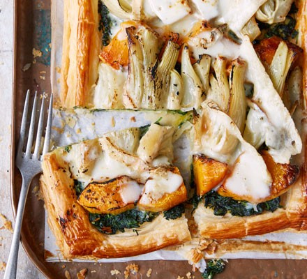 Pumpkin, fennel & Taleggio galette 2016