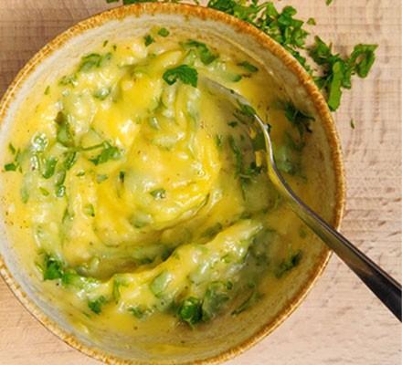 Garlic butter with parsley stirred through