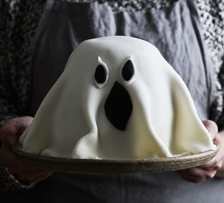 Ghost cake on plate