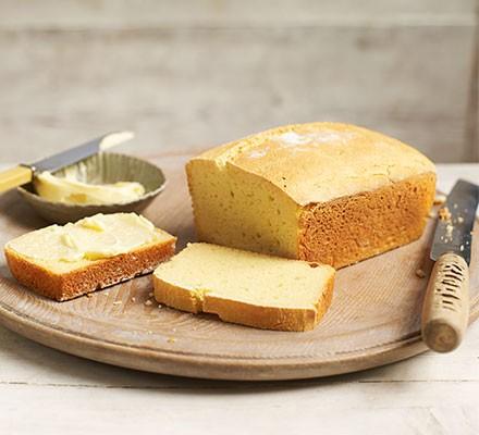 Gluten-free bread served on a bread board