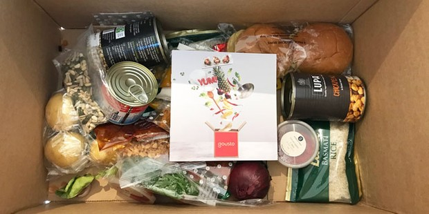 The contents of the Gousto recipe box