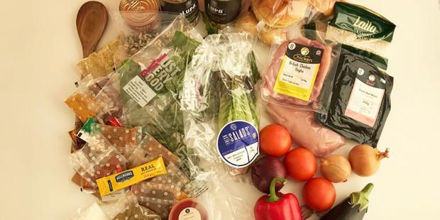 Ingredients inside Gousto box