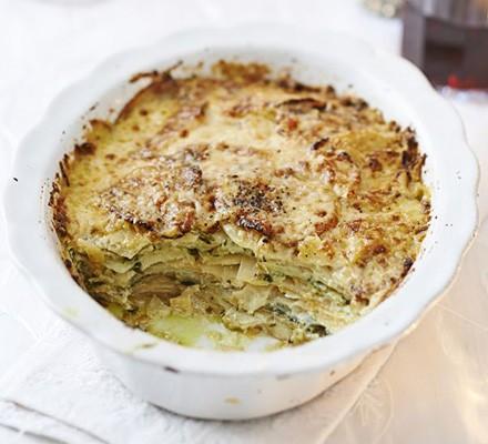Herby root vegetable gratin